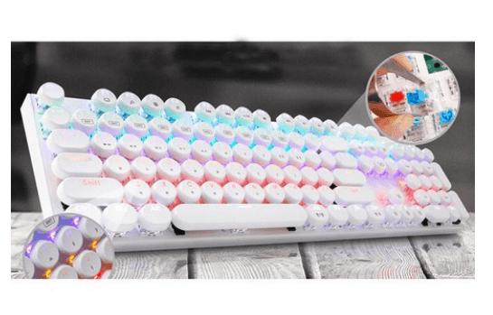 Product Image of the 앱코 조약돌 레트로 키캡 레인보우 LED 기계식 키보드