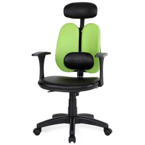 Product Image of the 청심의자 휴먼C형 요추헤더형 인조가죽 의자