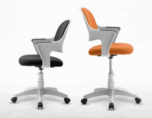 Product Image of the 체어클럽 터치백 고급패브릭 화이트바디 의자